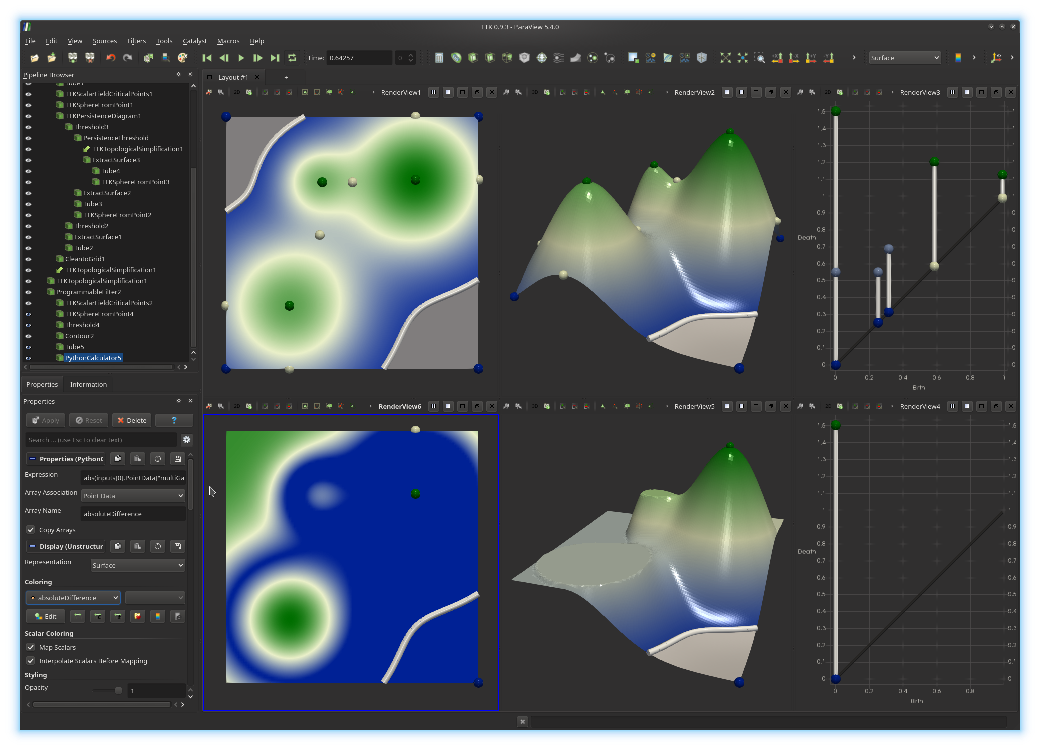 TTK - the Topology ToolKit - Topological Data Analysis and